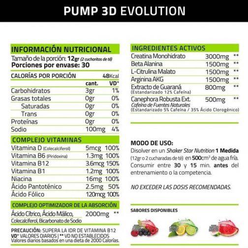 Star Nutrition Pump 3d Ripped Info Nutricional