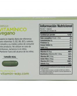 Complejo Vitaminico Vegano VITAMIN WAY (30 Comp Vegetales)
